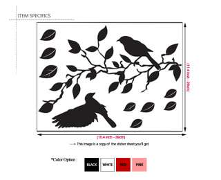 Branches & Birds   Vinyl Art Wall Decor Sticker Decals
