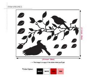 Branches & Birds   Vinyl Art Wall Decor Sticker Decals