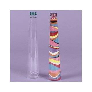 Plastic Triangular Cone Sand Art Bottles (Pack of 12)