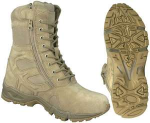 FORCED ENTRY DEPLOYMENT BOOT with SIDE ZIPPER / 8  DESERT TAN