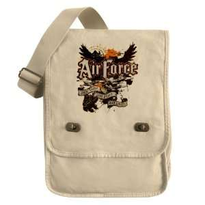 Messenger Field Bag Khaki Air Force US Grunge Any Time Any