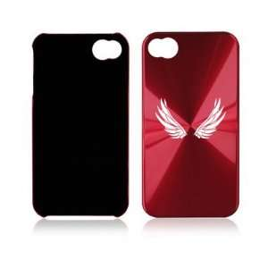 Apple iPhone 4 4S 4G Rose Red A494 Aluminum Hard Back Case Angel Wings