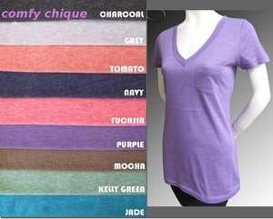 Skinny SLIM FIT Soft TUNIC Top T Shirt S M L XL ALL COLORS #3464