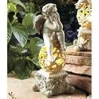 Thinking Cherub Angel Outdoor/Patio Garden Statue with Solar Light