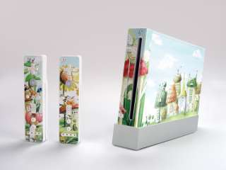 decal Sticker SKIN cover for Nintendo Wii Console & Remote