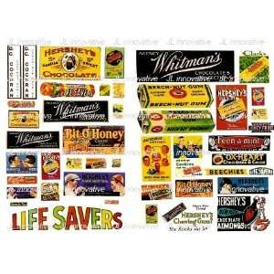 VINTAGE CANDY SIGNS (45)   JL INNOVATIVE DESIGN HO SCALE MODEL TRAIN