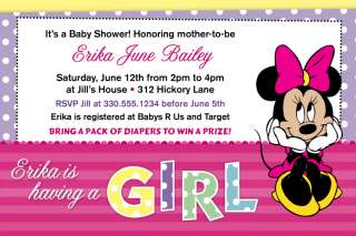 Adorable Custom Baby Shower Invitations   5x7 size