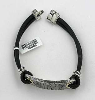 DAVID YURMAN Mens Rubber Rhino Bracelet 7.75 $695