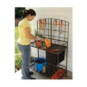 Wrought Iron Decorative Foldable Potting Bench
