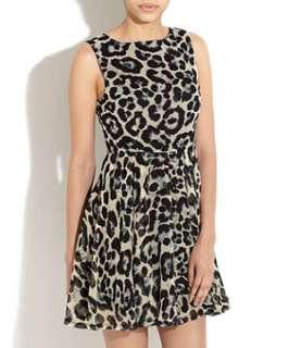 Cream (Cream) AX Paris Cream Animal Print Chiffon Dress  253720813