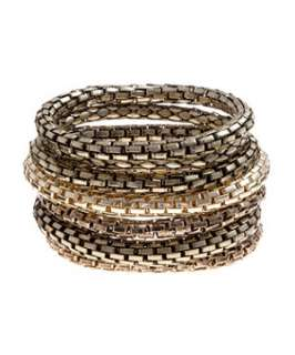 null (Multi Col) Set of Chain Stretch Bracelets  249221499  New Look