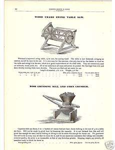 ROSS GRINDING MILL CORN CRUSHER 1900 ANTIQUE CATALOG AD |