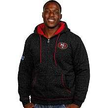 Pro Line San Francisco 49ers Big & Tall Fleck Full Zip Hooded Jacket