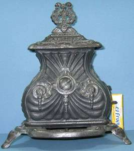 OLD CAST IRON PARLOR STOVE PATENTED 1857 OLD & AUTHENTIC TOY CI444