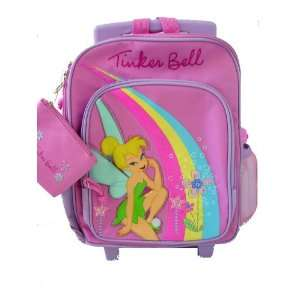 Princess Tinkerbell Tinker Bell Rolling Backpack Luggage Kid size