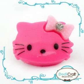Upick Color Resin Hello Kitty Flat Back Cabochon 20MM Bow Bling