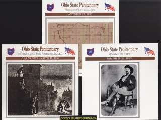 PENITENTIARY Morgans Raiders Jailed U.S. CIVIL WAR 3 CARDS