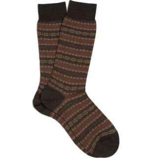 Socks  Casual socks  Merino Wool Blend Fair Isle Socks