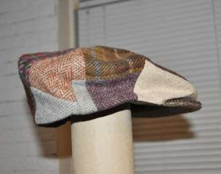 09dd9340b1c ... ORVIS IRISH TWEED HAT CAP ~ LARGE PURE NEW WOOL Made in Ireland PLAID  ...