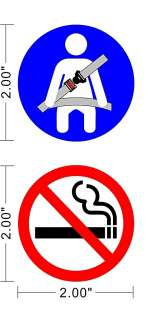 SMOKING Safety Sign Vinyl Sticker Taxi Bus Vehicle Car Van~A048