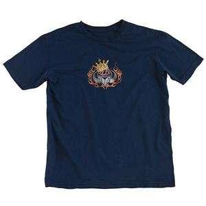 Troy Lee Designs Crown T Shirt   X Large/Navy Automotive