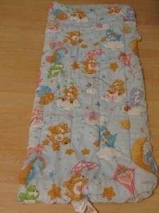 Vintage 80s Care Bears blue childrens sleeping bag