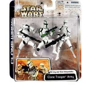 Trooper Army (Green Highlights) Action Figure Multi Pack Toys & Games