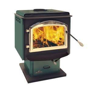 Napolean Fireplaces 1100F Small Wood Stove Porcelain Enamel   Green