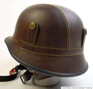 HELM MOTORRAD KRADMELDER STAHLHELM WWII für HARLEY CUSTOM BIKE RETRO