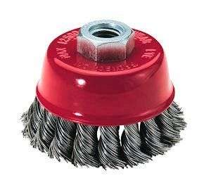 TWISTED WIRE CUP BRUSH 12,500 RPM Debur weld