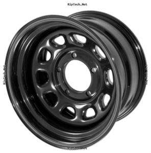 STEEL WHEEL, D WINDOW, BLACK, 15X8, 5 ON 4.5