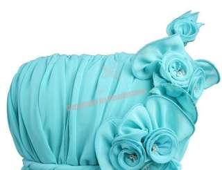 Sexy One Shoulder Long Flower Evening Dresses S M L XL 2XL