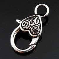 B159/ 12Pcs Tibetan silver Heart Lock clasp 13×25.5mm