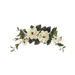 28 Wide Silk Thomas Magnolia Flower Swag  White (case of