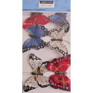 on Wire 9 Pce PINK & PURPLE Tones BUTTERFLIES Arts, Crafts & Sewing