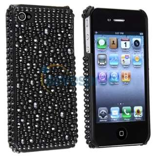 Crystal Bling Diamond Case Cover+Privacy LCD for iPhone 4 s 4s th 4