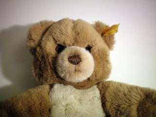 STEIFF Vtg Cosy Teddy Bear 26cm Brass Ear Button Tag