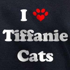 LOVE TIFFANIE CATS T SHIRT tiffanies cat kitten gift