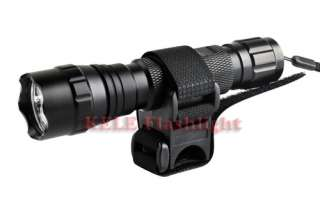 Ultrafire 501B CREE R5 335Lumens LED Flashlight + Mount