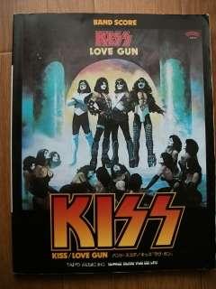 KISS LOVE GUN JAPAN BAND SCORE GUITAR TAB