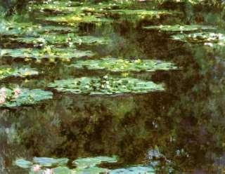 LARGE FRAMED Claude Monet Water Lilies Repro CANVAS ART