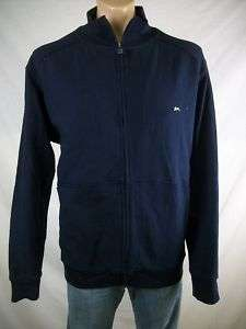 New Mens A. TIZIANO Deep Navy Taro Track Jacket Large