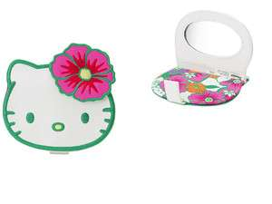 NEW SANRIO HELLO KITTY FACE DIE CUT MAKE UP MIRROR TROPICAL