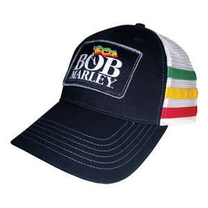 New Bob Marley & the Wailers Logo Flag Trucker Cap hat