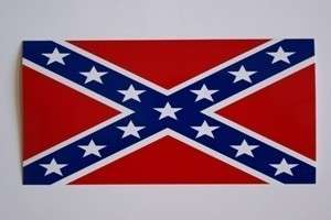 Rebel Bumper Sticker Confederate Bumper Sticker flag