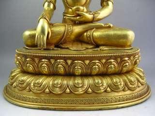 Old Tibet Tibetan 24k Gilt Bronze Tara Buddha Statue