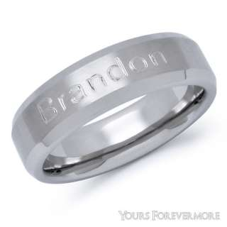 Personalized Mens Stainless Steel Name Ring
