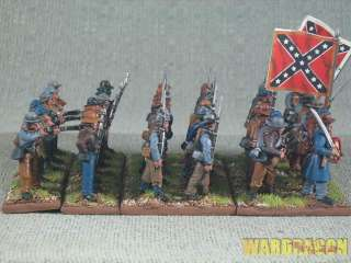 American Civil War WDS painted Confederate Infantry h70
