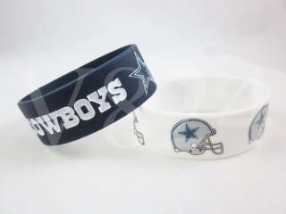 NFL Dallas COWBOYS Wristbands Bulk Bandz Bracelet A