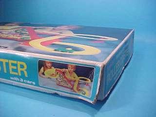 ROLLER COASTER w/ 3 CARS B/O HONG KONG BLUE BOX 1970s